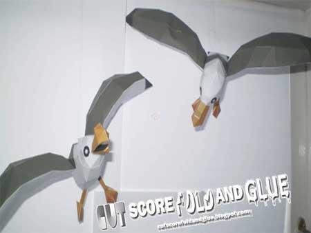 Wind Waker Seagull Papercraft