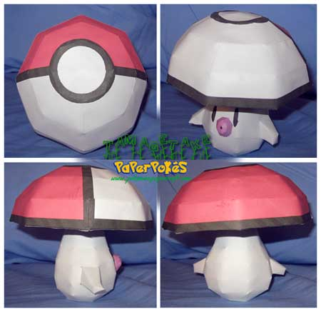 Pokemon Tamagetake Papercraft