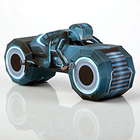 TRON Legacy Papercraft Light Cycle