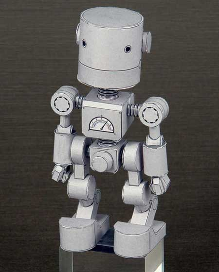 Shorty Robot / Chibirobo Papercraft