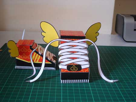 Flying Shoe Paper Toy Sweet Cherry