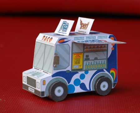 Car Town Papercraft Taco Truck
