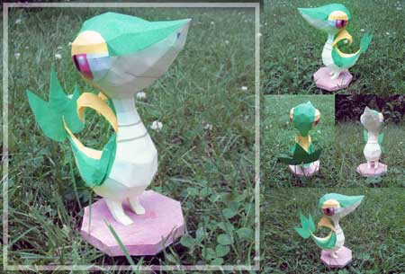 Pokemon Tsutarja Papercraft
