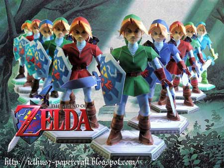 green guy adult links. Adult Link papercraft created by Icthus7 and based on ...