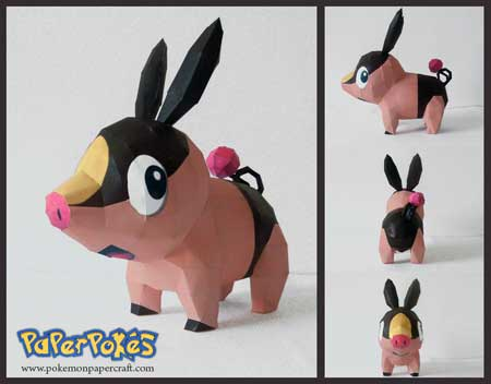 Pokemon Pokabu Papercraft