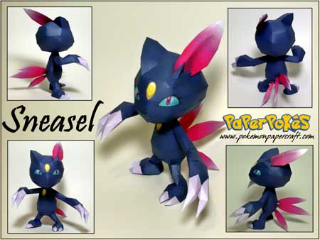 Pokemon Sneasel Papercraft