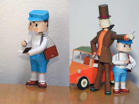 Professor Layton Luke Triton Papercraft