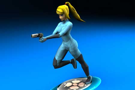 Metroid - Samus Aran Zero Suit Papercraft 2