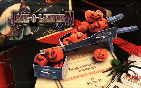 2010 Halloween Mini Jack O Lantern Papercraft