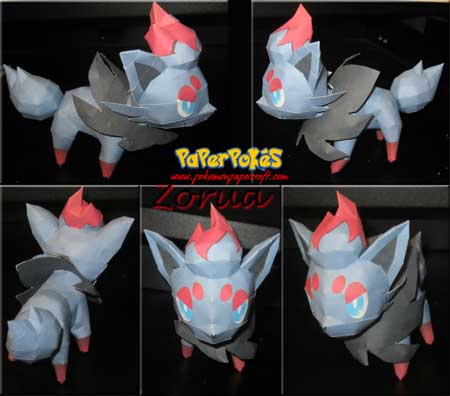 Pokemon Zorua Papercraft