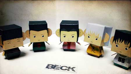 BECK Mongolian Chop Squard Paper Toy