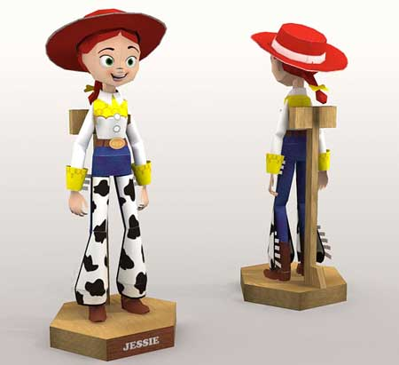 Toy Story – Jessie Papercraft (the Yodeling Cowgirl)