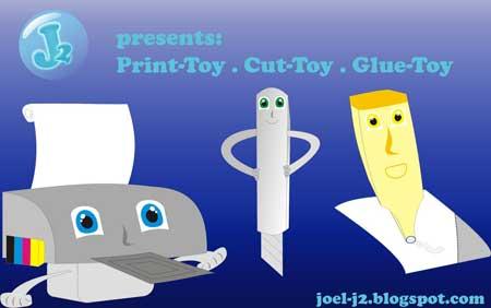 Prin Cut Glue Paper Toys