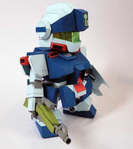 SD RGM-79SP GM Sniper II Gundam Papercraft