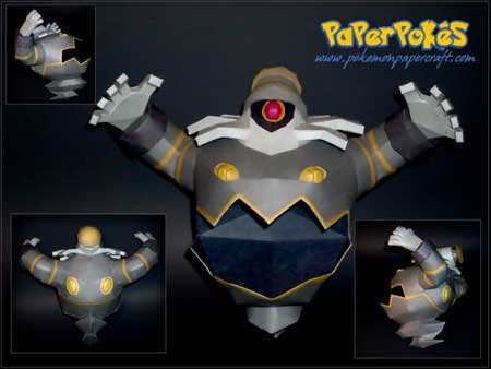 Pokemon Dusknoir Papercraft