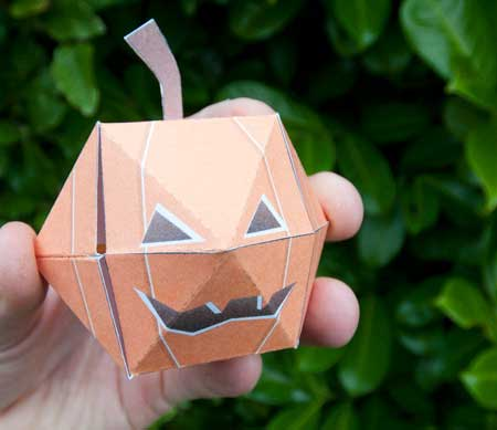 Pop Up Pumpkin Papercraft