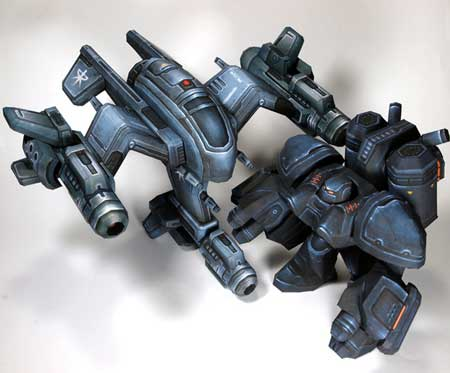 Starcraft 2 Wraith Papercraft