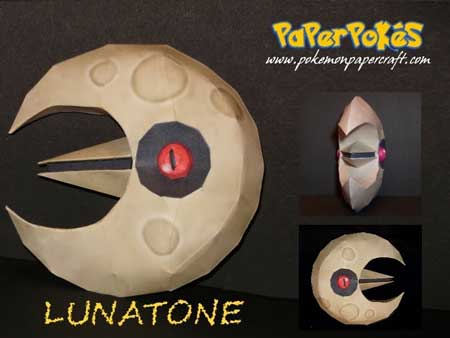 Pokemon Lunatone Papercraft