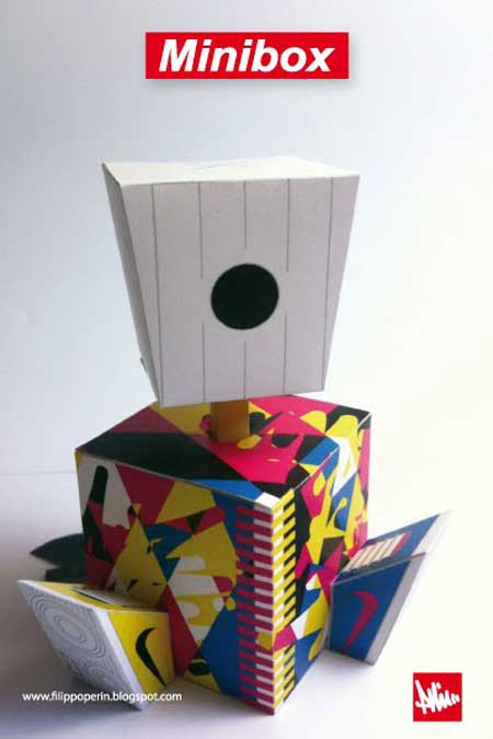 MINI BOX CAN CAMO Paper Toy Series 1