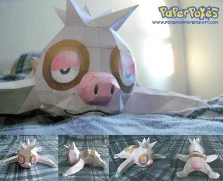 Pokemon Slakoth Papercraft