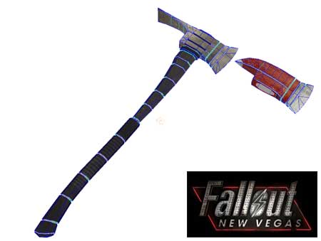 Fallout New Vegas Knock Knock Fire Axe Papercraft