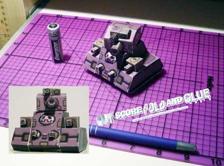 Mega Man Leopold Tank Papercraft