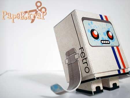 Retrobot Paper Toy 2
