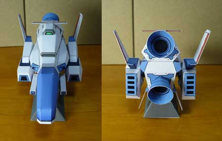 R-Type Papercraft R9A2 Delta Spacecraft