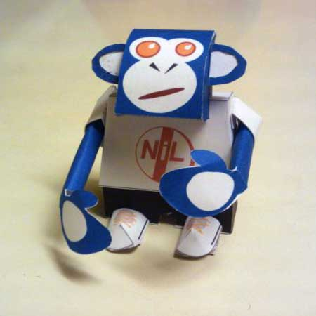 Jim Panzee Paper Toy