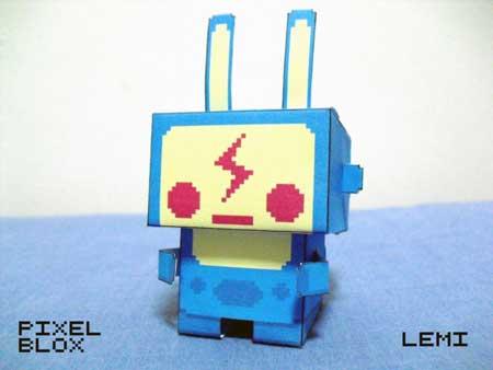 Pixel Blox Lemi Paper Toy