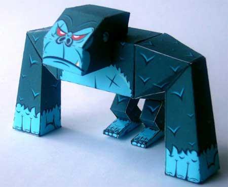 Macaco Gorilla Papercraft