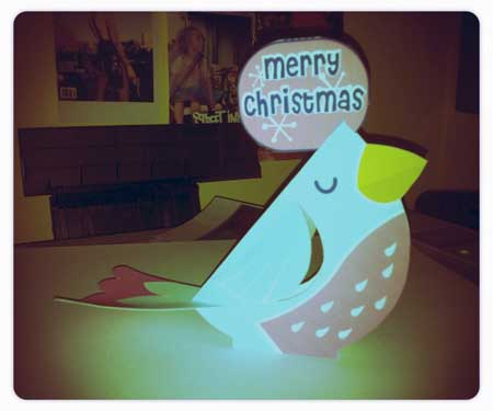 Christmas Robin Papercraft