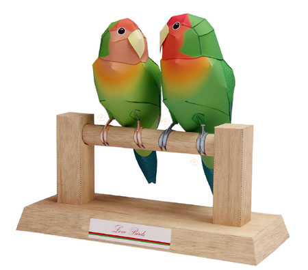 Love Birds Papercraft
