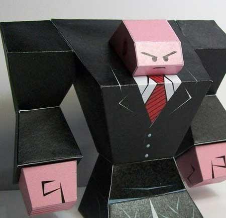 Hitman Paper Toy