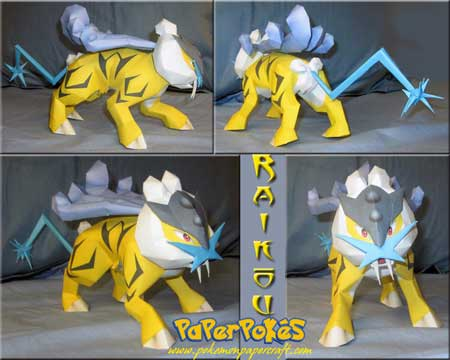 Pokemon Raikou Papercraft