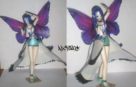 Anime Fairy Papercraft Nathaly
