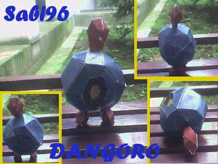 Pokemon Dangoro Papercraft