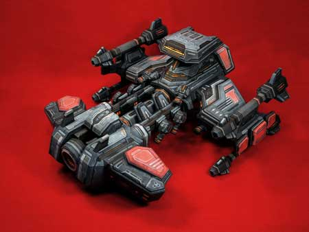 StarCraft 2 Battlecruiser Papercraft