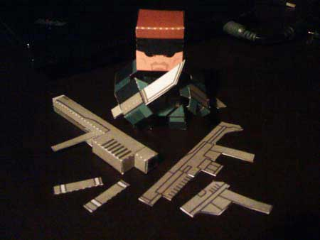 Solid Snake Paper Toy