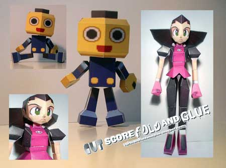 Mega Man Legends Papercraft Servbot Tron Bonne