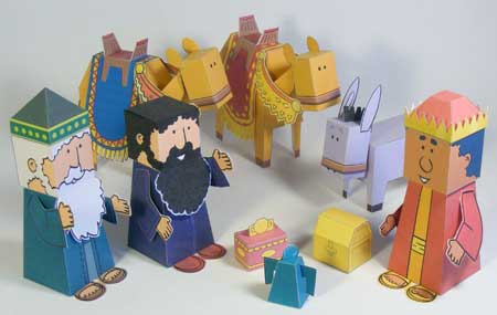 Three Kings / Three Wise Men Papercraft