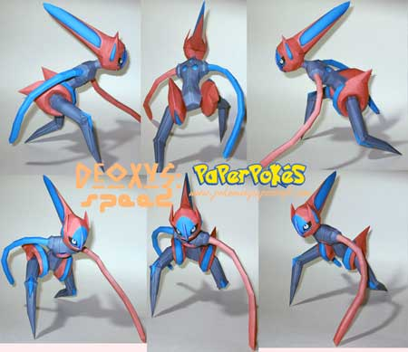 Pokemon Deoxys Papercraft Speed Forme