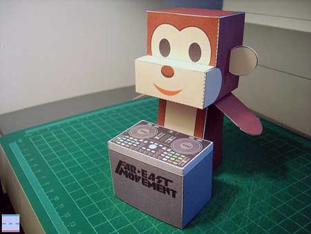 DJ Brass Monkey Papercraft