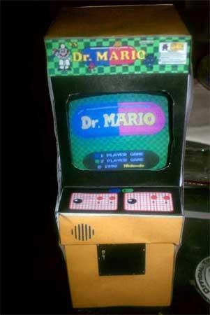 Dr. Mario Arcade Cabinet Papercraft