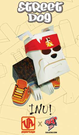 Inu Street Dog Paper Toy