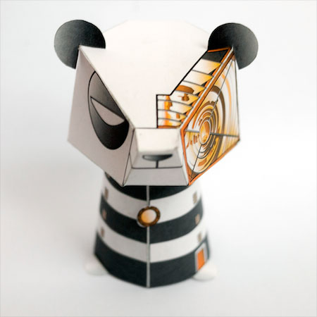 3EyedBear Headlight Bot Paper Toy