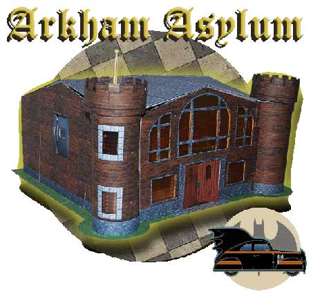 Arkham Asylum Papercraft and 1940 Batmobile