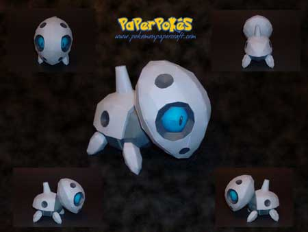 Pokemon Aron Papercraft