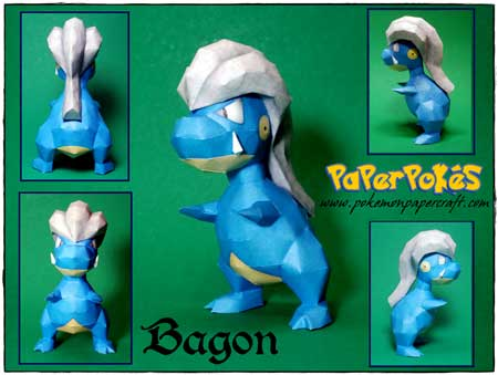 Pokemon Bagon Papercraft