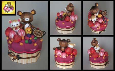 Relax Bear Rilakkuma Happier Cupcake Papercraft